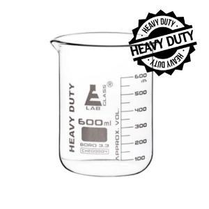 Beaker heavy duty glass 600 ml