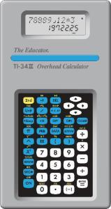 TI-34II Overhead Calculator