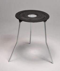 Burner Tripod Stand with Concentric Rings