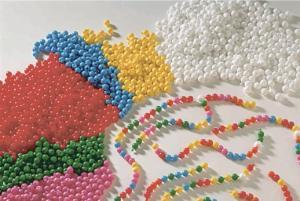 Pop Beads, White, 5-Hole