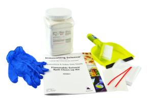Solvent spill clean up kit