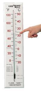 H-B® Enviro-Safe® Environmentally Friendly Liquid-In-Glass Wall Thermometer