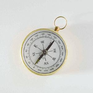 Magnetic Compass with Beveled Top