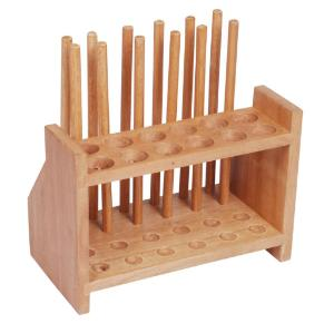 Double Row Wood Test Tube Support
