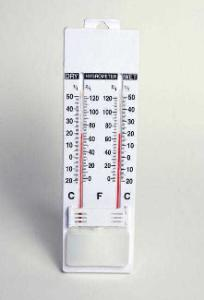Wet and Dry Bulb Wall Thermometer