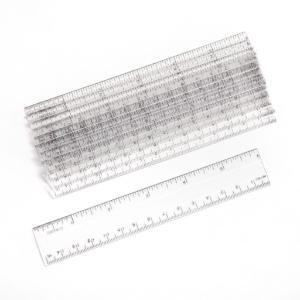 "Clear 6"" Plastic Rulers"