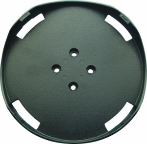 Round plate attachment for microplate shaker