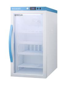 Medical laboratory series refrigerator with glass doors, 3 cu.ft.