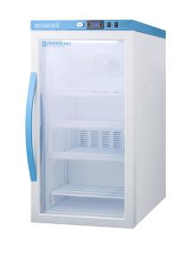 Pharma-vaccine series refrigerator with glass doors, 3 cu.ft.