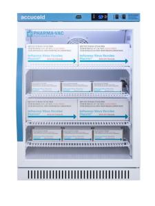Pharma-vaccine series refrigerator with glass doors, 6 cu.ft.