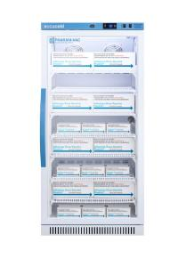 Pharma-vaccine series refrigerator with glass doors, 8 cu.ft.