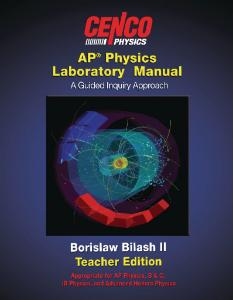 CENCO® AP Physics Lab Manual, Student Guide