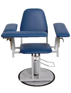 Upholstered Blood Drawing Chairs, Adjustable Height, Med-Care Manufacturing