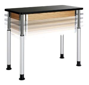 Adjustable Height Table, Plastic Laminate Surface