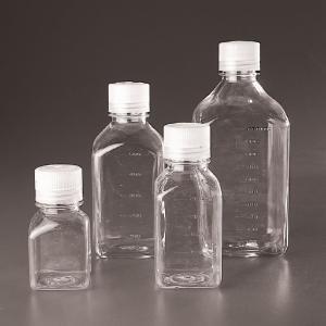 Polycarbonate Screw Cap Square Storage Bottles